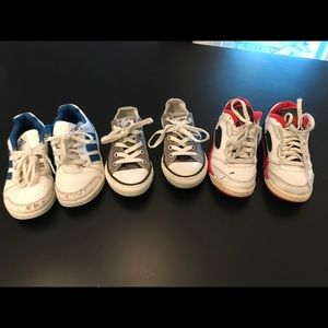 3-pair of used toddler sneakers size 12C